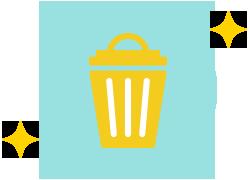 使い捨ての器具で 使い回しによる感染防止